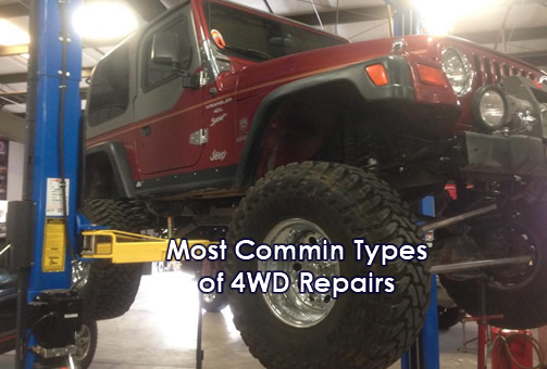 The Most Common Types of 4WD Repairs